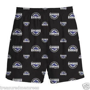 Boys' Licensed MLB Colorado Rockies Sleepwear Shorts ~ Size Large (14-16) ~ NWT