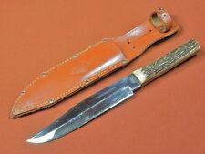 Vintage German Germany Solingen IMCO Original Bowie Huge Hunting Knife w/ Sheath