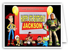 Personalised Birthday Card - with Toy Story Print -  Any name & age