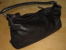 Authentic Salvatore Ferragamo Made Italy Brown Leather Designer Satchel Purse