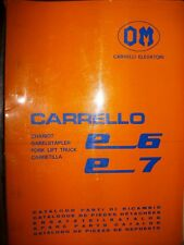 OM Fiat chariot élevateur E6 - E7 : catalogue de pièces