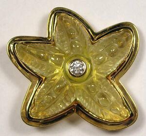 Starfish Pendant/Brooch - 18K Yellow Gold, Beryl, Diamond - Gunther Weinz