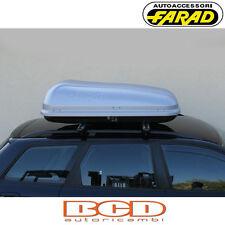 FARAD - BOX BAULE PORTAPACCHI F1 N4 320LT GRIGIO SATINATO - PORTABAGAGLI AUTO