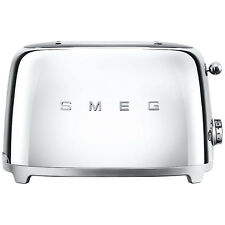 Smeg TSF02 4-Slice 2-Slot Toaster, Stainless Steel