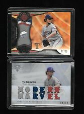 YU DARVISH 2016 Topps Tribute & 2015 Triple Threads Patch Lot /25 /36