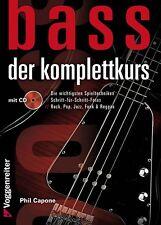 BASS Der Komplettkurs +CD von Phil Capone - leicht Bassgitarre lernen PORTOFREI!