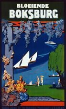"Vintage Travel Poster CANVAS PRINT Boksberg South Africa 24""X16"""