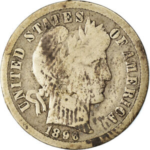 [#863819] Coin, United States, Barber Dime, Dime, 1896, U.S. Mint, New Orleans