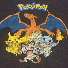 Pokémon 2XL Gray T-shirt Go Ash Pikachu Misty Magikarp Jump Game Duel Pokédex