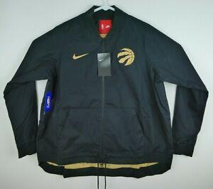 Nike Womens Large Toronto Raptors Windbreaker Jacket Black The North 899115-010