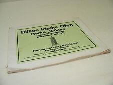 ancien catalogue WIKING pas cher Poêles Liste des prix Prosoekt Edition de 1911