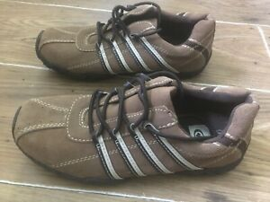 MENS UK SIZE 8 BROWN SUEDE LEATHER LACED TRAINERS NEW