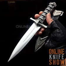 "11"" TACTICAL COMBAT MEDIEVAL FIXED BLADE Survival Hunting Dagger Knife w/ SHEATH"