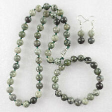 10mm Natural Gleaming Seraphinite Round Beads Necklace & Bracelet & Earring