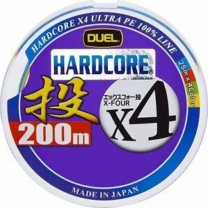 DUEL HARDCORE PE Line HARDCORE X4 Throw 200m no.2.0 H3292