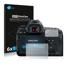 6x Displayschutzfolie für Canon EOS 6D Mark II Schutzfolie Klar Folie