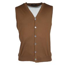 "Fedeli Knit Vest Men's Wool "" Super 160 "" Brown Size 56 (Previously"