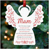 Memorial Christmas Tree Decoration Personalised Mum Dad Nanny Heart Angel Star