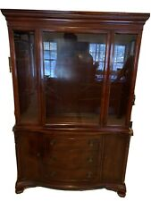 Vintage Morganton Mahogany China Cabinet - good Condition