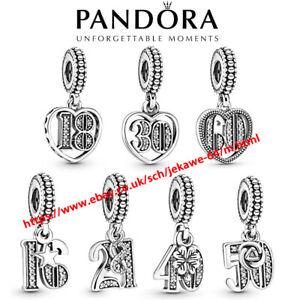 New Genuine Pandora Years of Love Anniversary Birthday Pendant Dangle Charm
