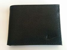 Nike Men's Black Pebble Leather Billfold Passcase Wallet Brand NEW