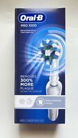 Oral-B Pro 1000 Deep cleaning action  Rechargeable Toothbrush White New