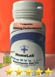 Helmintazole 500mg (36 Capsules ) Tablets Panacur Safe Guard Fende