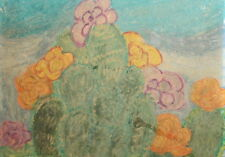 Expressionism Floral Vintage Pastel Painting