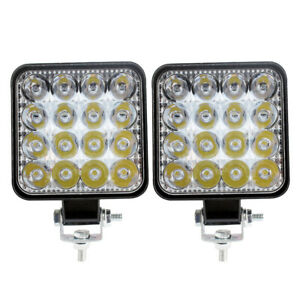 2x 48W LED Flood & Spot Work Light Bar Car SUV Truck Offroad Driving Fog Lamp UK