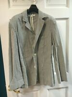 Riviera Club Unconstructed Gray Pinstriped Rowing Style Blazer - Size M