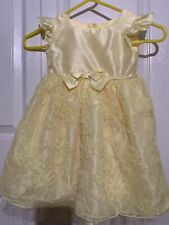 George Girls Size 4T Spring Special Occasion Dress Yellow Floral