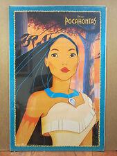 vintage Walt Disney original Pocahontas movie poster  10825