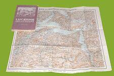 Lucerne lake and environs Guida di Lucerna Kursaal Keller's 1914 Brunnen Treib