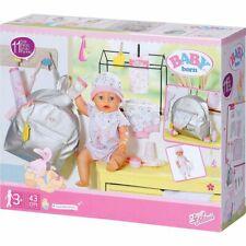 BABY born® Großes Puppenkleidung Set mit Wickeltasche 43 cm 9 Teile Silber