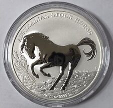 2017 Australian Stock Horse 1 oz Troy Ounce .999 Silver Bullion Coin