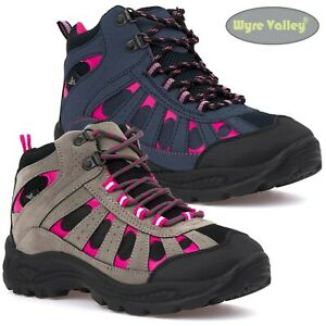 Ladies Hiking Boots Womens Trail Trekking Walking Trainers Ankle High Shoes Size