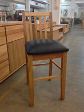 Donvale - Solid timber w/ Leather seat - Bar stool