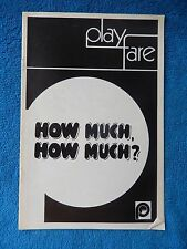 How Much, How Much? - Provincetown Playhouse Theatre Playbill - April 1970