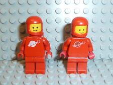 LEGO® Space Classic 2x Figur Astronaut rot mit Airtank 1968 918 6930 6929 K365