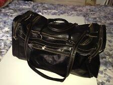 Genuine Black Camel Leather Travel Fashion Bag With Internal Pockets Nice Gift