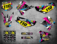 Custom graphics for Yamaha TTR 110 2000 - 2007 RUSH STYLE full sticker kit