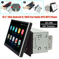 "10.1"" Screen 2DIN Rotation Android 9.1 WIFI 1G+16G Car Radio GPS MP5 Player Part"
