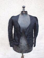 + Ancien veston - veste de femme noir en satin + c3831fc1763
