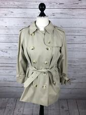 BURBERRY Double Breasted Short Rain Mac Trench Coat - UK12 - Women's