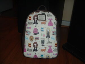 LOUNGEFLY HARRY POTTER ANIME MINI BACKPACK~ WITH TAGS~BRAND NEW~ BROWN~