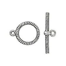 Toggle Clasp Antiqued Silver ptd Pewter, 16mm, 10 sets
