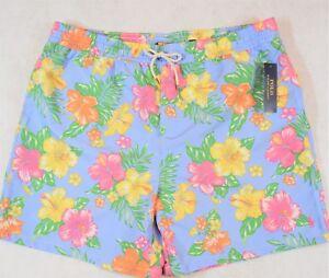 Polo Ralph Lauren Swim Trunks Board Shorts Blue Floral Size 2XB 2X NWT