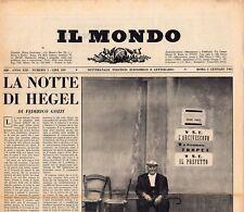 Il Mondo Settimanale politico economico e letterario, 1961. Annata completa