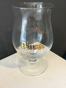 """Duvel Collectible Beer Tulip Glass """"Confidence In Every Sip Ness"""" Rare Glass New"""