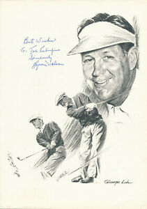 Byron Nelson - Signed Print of the Pro Golfer - PGA Tour Lifetime Achievement